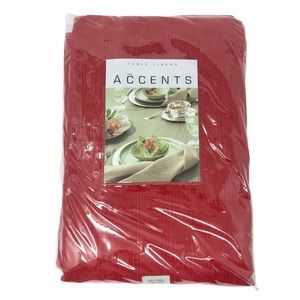 Table Linen Accent Textured Tablecloth 70x102 NWT